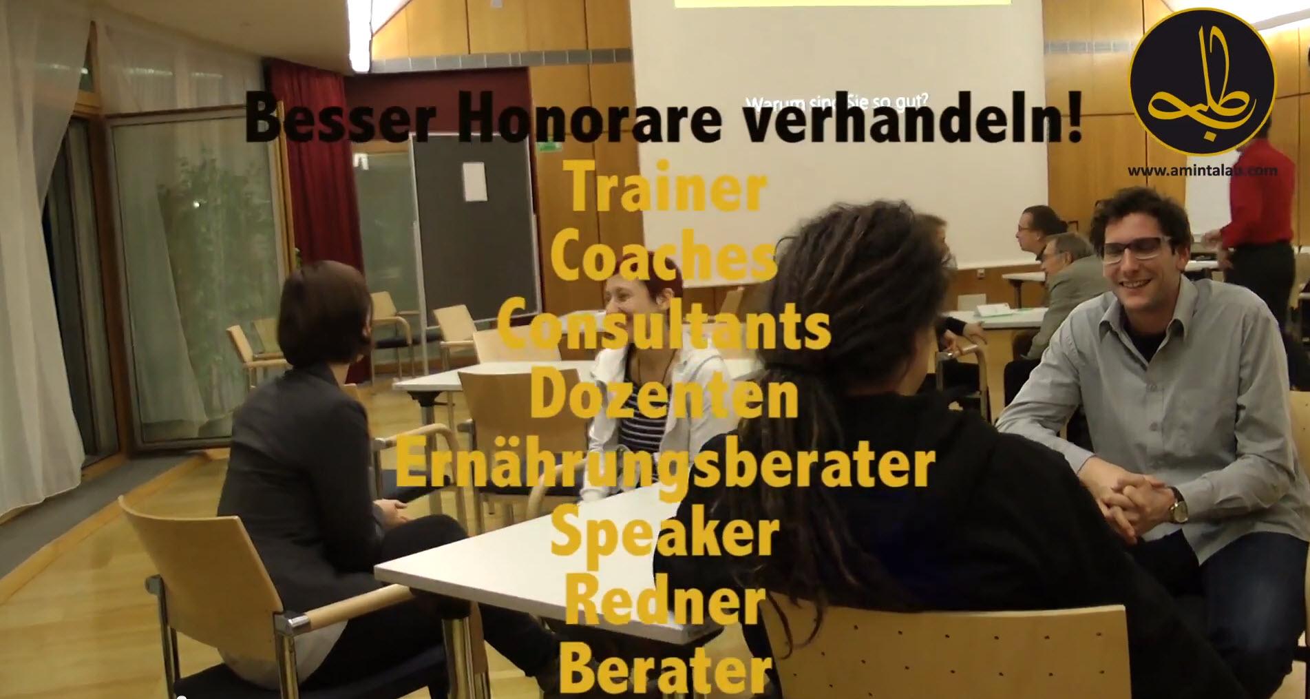 Seminar Honorar verhandeln