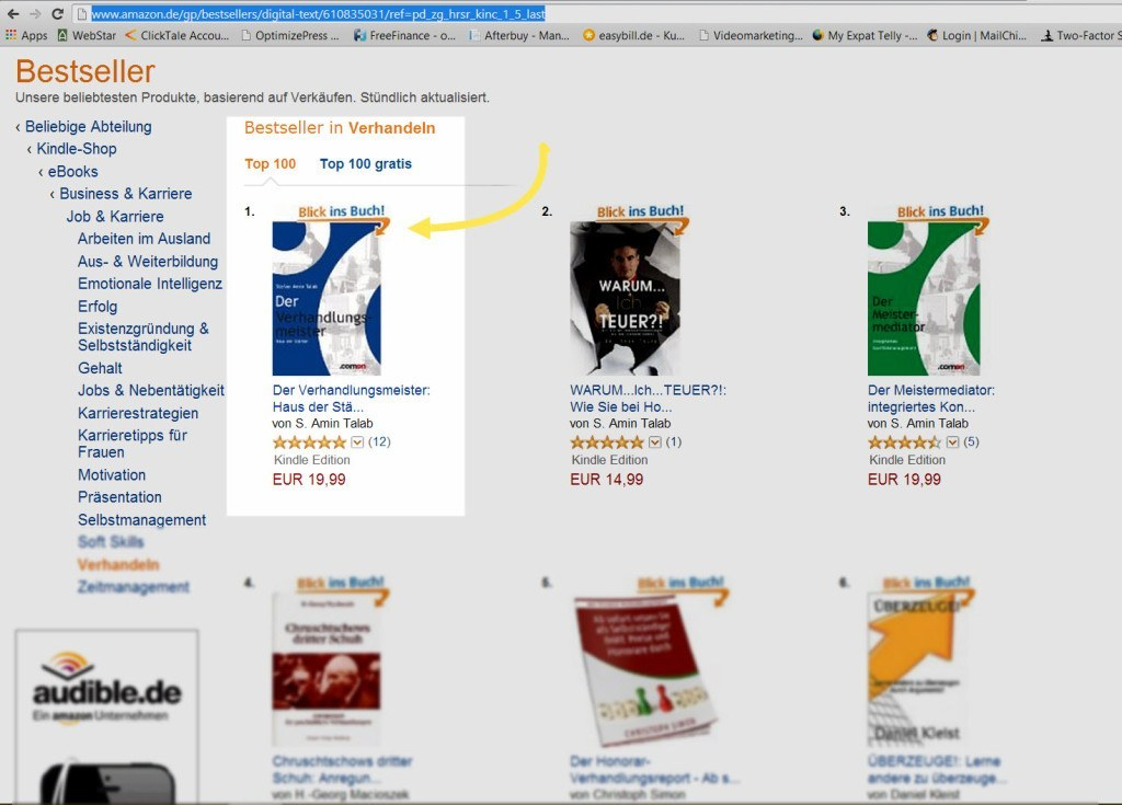 Amazon Bestsellerliste